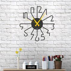 Clock, Wall Decor, Interior Design, Wood, Diy, Deco Wall, Ankara, Home Decor, Metals