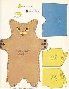 vintage Richard Scarry pattern: Huckle puppet!