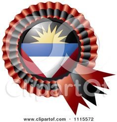 Clipart Shiny Antigua And Barbuda Flag Rosette Bowknots Medal Award - Royalty Free Vector Illustration by MilsiArt Antigua And Barbuda Flag, Patriotic Symbols, Clip Art Pictures, Royalty Free Clipart, Free Vector Illustration, Free Cartoons, Flags Of The World, National Flag, Cartoon Styles