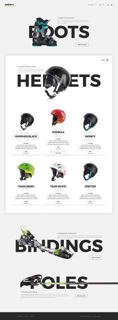 Ski Accessories - Shop by Webshocker Best Web Design, Site Design, Ad Design, Logo Design, Webdesign Inspiration, Web Inspiration, Graphic Design Inspiration, Text Layout, Design Web