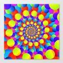 Hippie Art Rainbow Spiral Fractal Art Print by Hippy Gift Shop   Society6