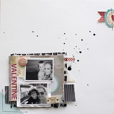 supersweet little boy valentine layout love!