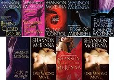 McCloud Brothers series by Shannon McKenna - Romantic suspense series    Reading order list: http://paranormalromancereads.com