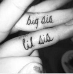 Big Little Sis Tattoo