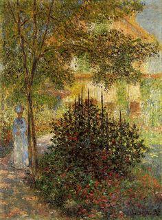 Camille dans le jardin de la maison d'Argenteuil, C Monet ,1876.