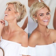 Short haircut with Choppy Layers on Top