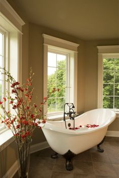 If I ever have the means someday, I would LOVE to have a seperate clawfoot tub from the shower.                                                                                                                                                     More