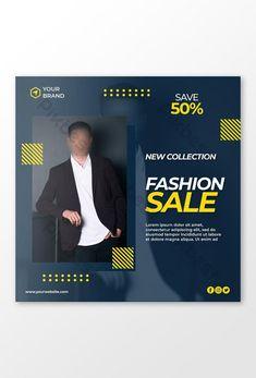 Fashion Sale Banner or square flyer for social media post#pikbest# Web Banner Design, Sale Banner, Fashion Sale, Social Media Design, Business Marketing, Lorem Ipsum, Find Image, Templates, Stencils