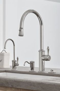 Kitchen Faucets Ideas Davoli Pull-Down Kitchen Faucet with 42 Series standard lever, in Polished Nickel (PVD) finish Polished Nickel Kitchen Faucet, Kitchen Faucets Pull Down, Best Kitchen Faucets, Kitchen Faucet Reviews, Kitchen Fixtures, Bathroom Faucets, Brass Kitchen, Plumbing Fixtures, Concrete Bathroom