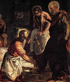 Image result for Jesus washing feet artwork