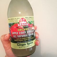 I am loving this! Best part: it will be super easy to make myself! It's just water, apple cider vinegar, ginger and stevia. Yum! #delish #tasty #healthy