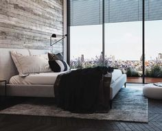 Own your morning // bedroom // interior // home decor // city life // urban living // urban suite // city loft // Wall art //