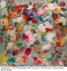 Ross Bleckner - Time (Transplanting) - 2009 - olio su lino - cm 182,9x182,9 - courtesy Galleria Mazzoli, Modena