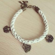 ..... e bracciale fu! #handmade #bijoux #bracelet #bag #flake #fattoconamore