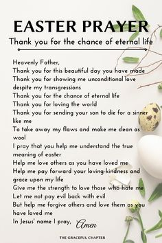 5 Easter Prayers Of Thanks - The Graceful Chapter