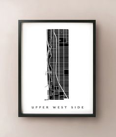 Upper West Side Map  Manhattan NYC Neighborhood by CartoCreative, $20.00