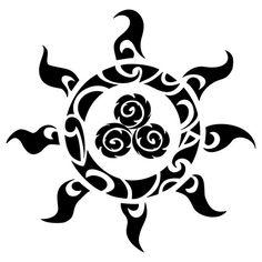 Maori Tattoo Vorlage Tribal Sonne