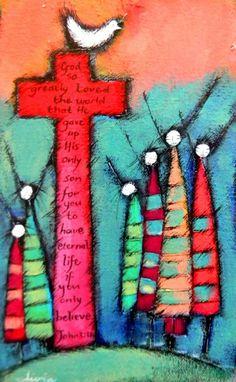 Olivia Botha Scripture Art, Bible Art, Fan Blade Art, Zentangle, South African Artists, Angel Art, Naive Art, Painting Lessons, Retro Art