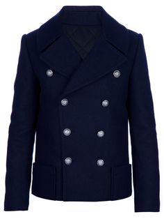 Balmain Pea Coat - Tessabit - farfetch.com
