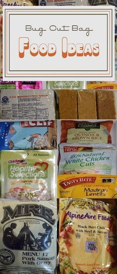 Choosing the best FOOD for your bug out bag or 72 hr kit with pictures and comparison. Preppers Survive