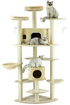 large cat tree condo - Go Pet Club Cat Tree, Beige * Check this awesome product by going to the link at the image. (This is an affiliate link) Cat Tree Condo, Cat Condo, Cool Cat Trees, Cool Cats, Large Cat Tree, Cat Site, Cat Toilet Training, Cat Activity, Cat Climbing