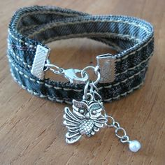 Recycled Jeans Bracelet - By MiekK