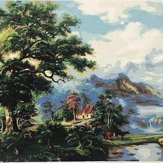 Картина раскраска по номерам горы 144