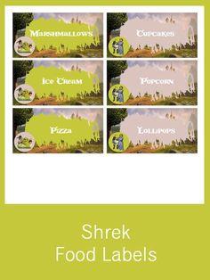 Shrek Food Labels - FREE PDF Download