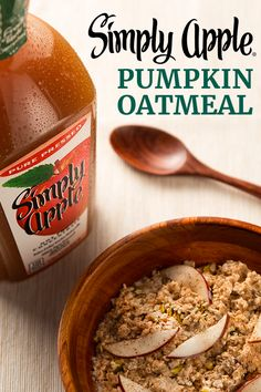 Five ingredients is all you need to make Simply Apple® Pumpkin Oatmeal – a quick and easy way to spice up your morning. You'll taste the flavors of fall with every bite when breakfast includes the pure-pressed taste of Simply Apple.