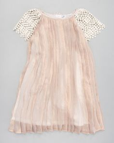 You know you're in trouble when you can't tell if the dress belongs in the children's section or women's. oh well, loves it. Charabia Pleated Shimmer Dress - Neiman Marcus