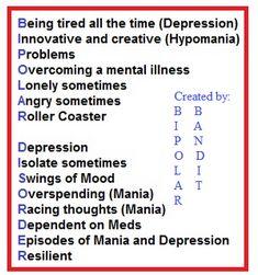Bipolar Disorder acronym #bipolardisorder #bipolar