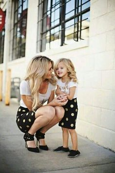 Mother daughter polka dots