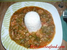 Gumbo | Gumbo with shrimps, crabmeat, okra and vegetables is simply delicious ...