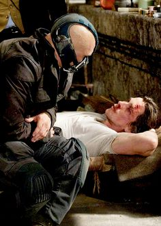 The Dark Knight Rises- Tom Hardy, Christian Bale