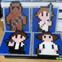 Star Wars Coasters perler beads from Wintermoon Crafts