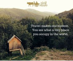 #ruralodyssey #travelinspiration #quoteoftheday