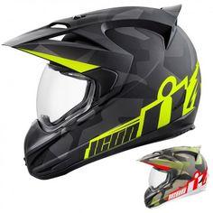 Icon Racing Variant Deployed Mens Motorcycle Street Sport Bike Biker Helmets