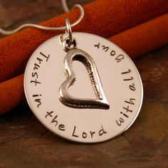 Hand Stamped Jewlery  Favorite Bible Verse by IntentionallyMe, $52.00