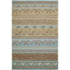Kaleen Home and Porch Idle Hour Glacier 3 ft. x 5 ft. Indoor/Outdoor Area Rug