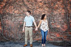 OKC Engagement Picture Ideas in Oklahoma City Bricktown.  See more Oklahoma City Engagement picture examples on our blog.   ------------> See Our New Blog <------------- Oklahoma City Photography Blog:  Engagement Picture Ideas | Engagement Pose Ideas | Engagement Picture Ideas | #OKCEngagement