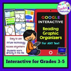 Google Interactive: 24 Reading Graphic Organizers for Grades 3-5 *Use with ANY fiction or nonfiction text!