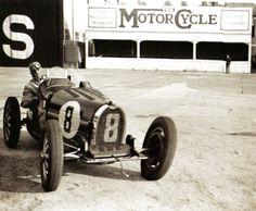 Tazio Nuvolari in a Bugatti at Brooklands - UK - 1 May 1932