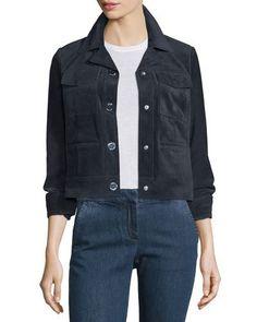 MICHAEL MICHAEL KORS Suede Trucker Style Coat. #michaelmichaelkors #cloth #