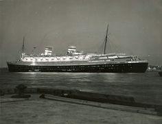 Holland America Line NIEUW AMSTERDAM circa 1950s via Todd Neitring