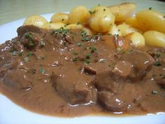 Stoofvlees - a Belgian beef stew with beer, mustard and laurel