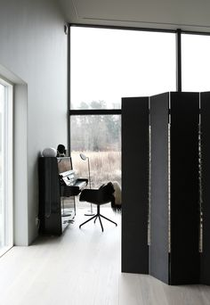 Music room idea; black separator for privacy and sound rebound