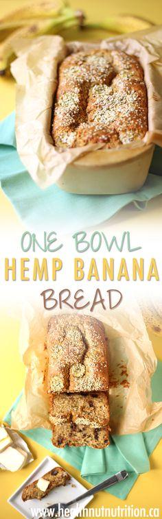 Diet Plans: One Bowl Hemp Banana Bread Healthy Eating Recipes, Healthy Breakfast Recipes, Healthy Baking, Snack Recipes, Dessert Recipes, Cooking Recipes, Healthy Snacks, Baking Desserts, Healthy Desserts