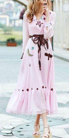 Elegant Mid Calf Runway Dress $63 shop @ pinkpicot,com