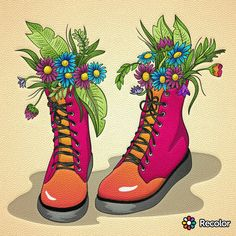 Dr. Martens, Combat Boots, Shoes, Color, Fashion, Moda, Zapatos, Shoes Outlet, Fashion Styles