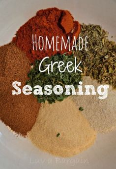 "Making your own seasoning mixes with the spices that you probably have in your cabinet is a great way to get ""cleaner"" versions of pre-packaged seasonings. Mainly getting rid of the unneeded sodium. I store them in old spice containers and label them with a simple piece of tape. This homemade Greek seasoning is wonderful …"